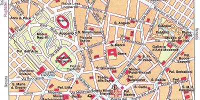Milano Kort Kort Milano Lombardiet Italien